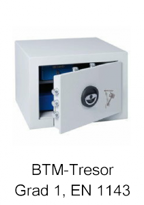 BTM-Tresor Grad 1 nach EN 1143
