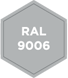 Standardlackierung RAL 9006 - Weißaluminium